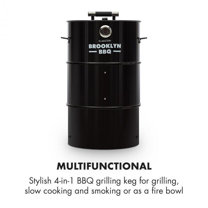 Brookly-BBQ 4in1-grillitynnyri | Ø 42 cm | terästä | jauhemaalattu