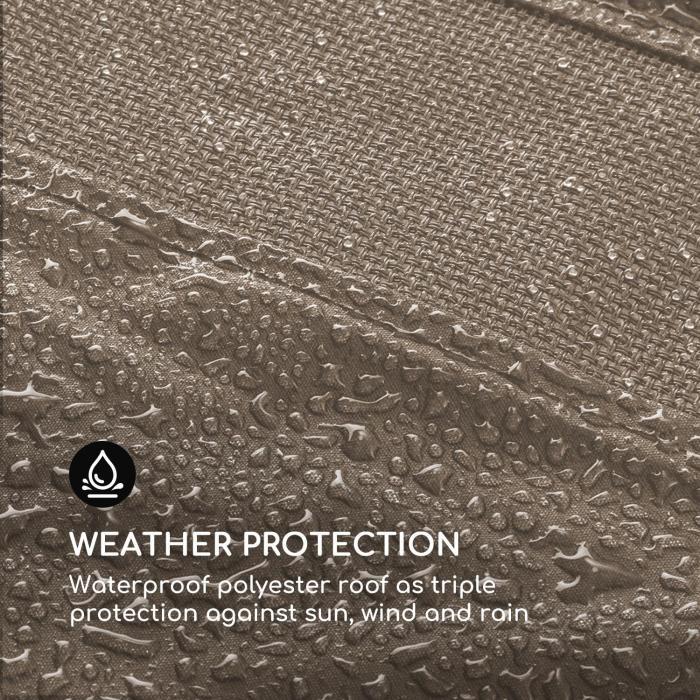 Senator vaihtokatos aurinkosuoja polyesteria vesitiivis vaaleanruskea