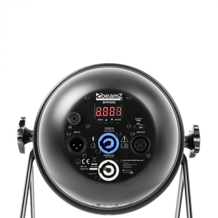 BPP230 PAR 64 LED schijnwerper 14x15W UV leds 150W DMX/stand alone zwart