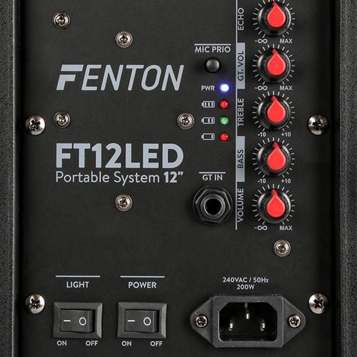 Fenton Ft12led Active Speaker 12 Quot 700w Bt Usb Sd Aux