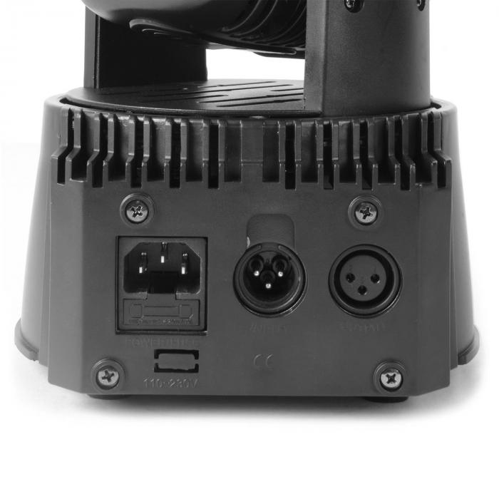 MHL testa mobile Wash 18x 3 W RGB DMX nero