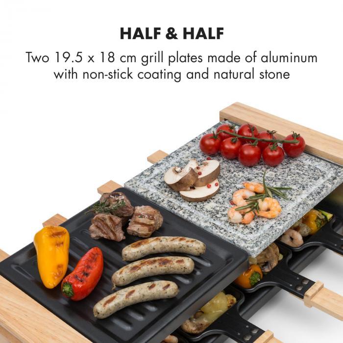 Chateaubriand Nuovo Raclette 1200W Alluminio / Pietra 8 persone
