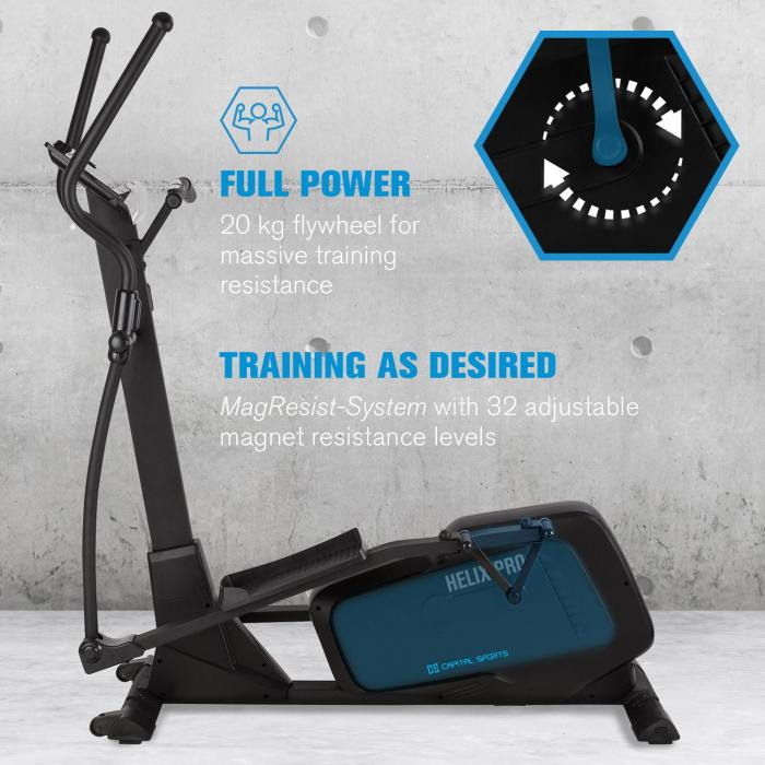 Helix Pro Cross Trainer Bluetooth App 20kg Schwungmasse