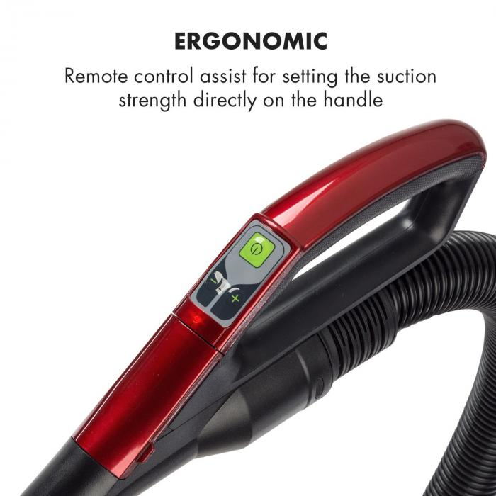 Clean King Ergo Cyclone Vacuum Cleaner 800W Bagless HEPA13 EEC-A Grey / Red