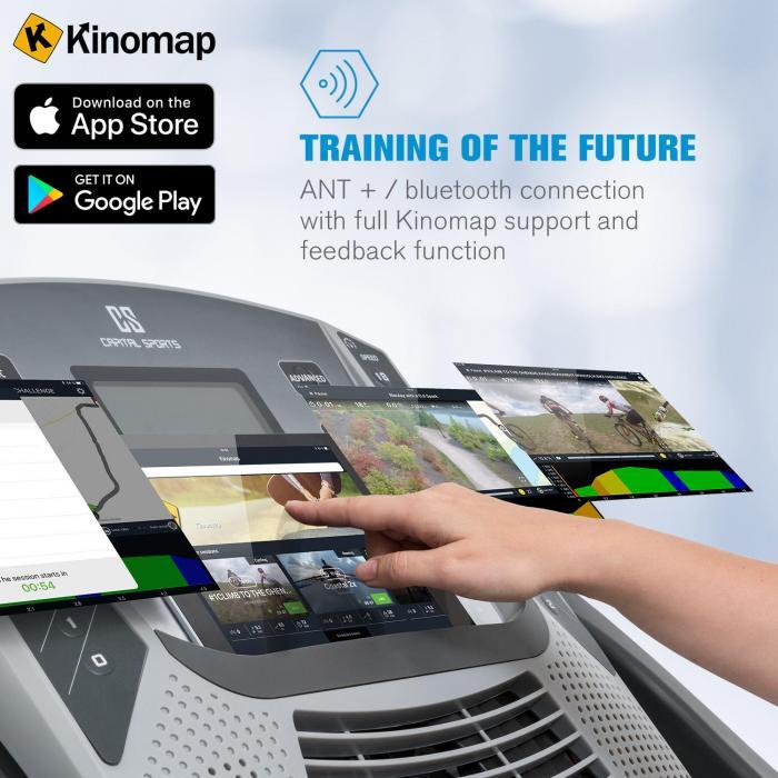 Infinity Pro 2.0 Laufband 6,5 PS BT/ANT+ Kinomap-App LCD grau