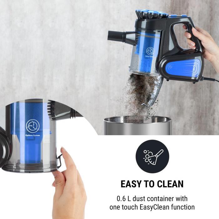CleanTurbo Zyklon-Handstaubsauger, 600 W, MultiCyclonic System, blau