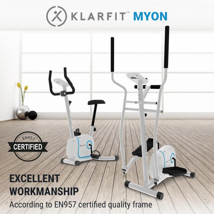 Myon Cross crosstrainer 12 kg vauhtipyörä SilentBelt System valkoinen