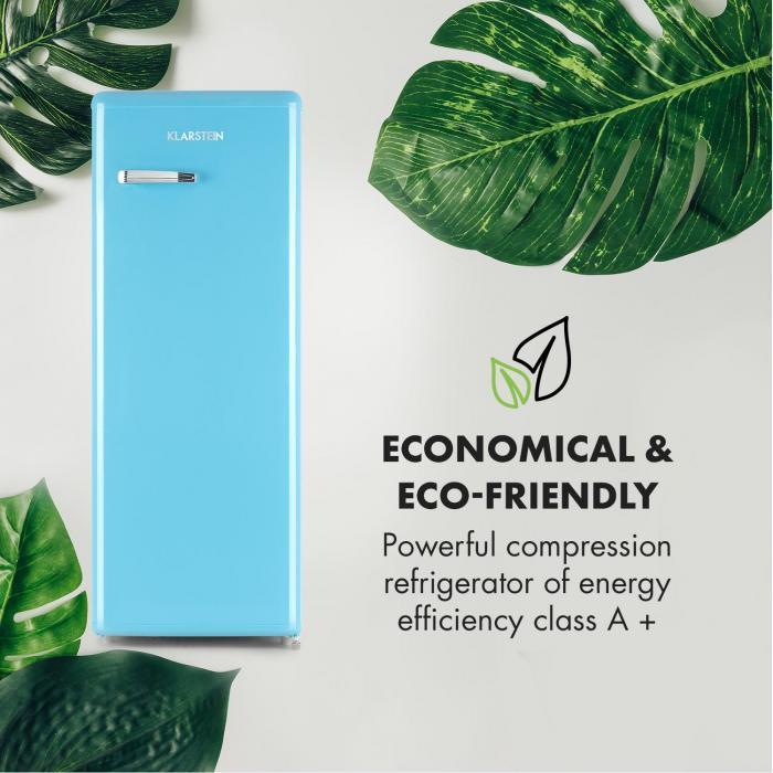 Irene XL Refrigerator 242l Retro Design 4 Levels A+ blue