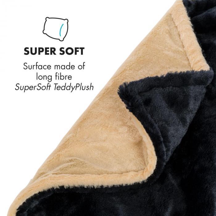 Dr. Watson SuperSoft Electric Blanket 120W 180x130cm Teddy Plush Beige / Blue