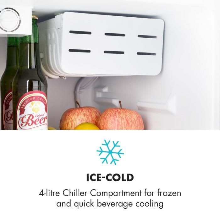 Klarsterin Cool Kid minijääkaappi 4 litran pakastelokero 66 litraa 42 dB A+ musta