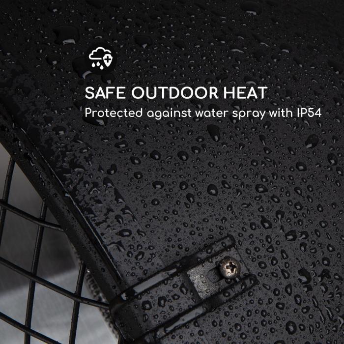 Heatspot terassilämmitin 900/1500/2100 W infrapuna ComfortHeat musta