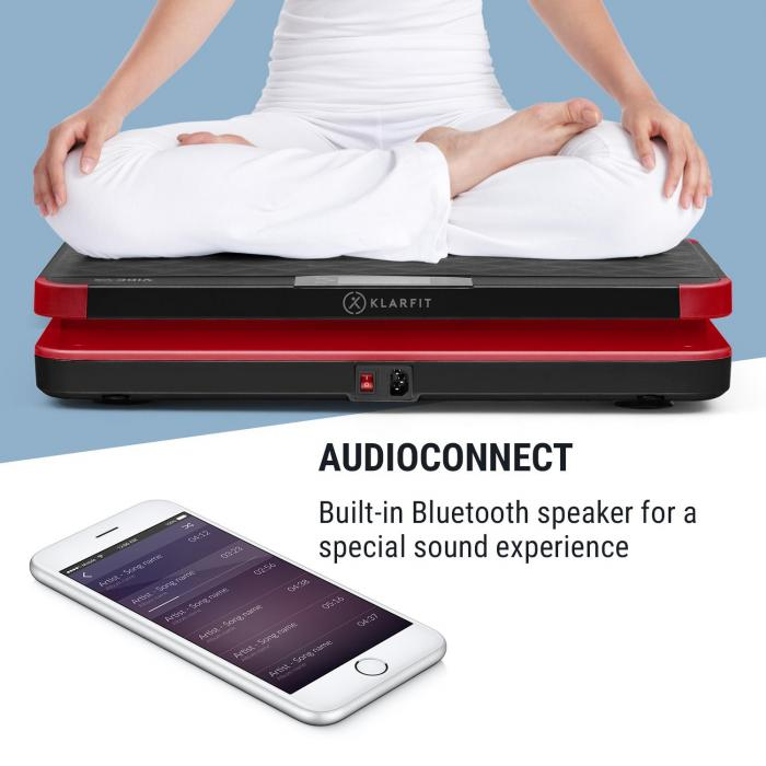 Vibe VX Vibration Plate, 200 Watts, 3 Programmes, AudioConnect, Black
