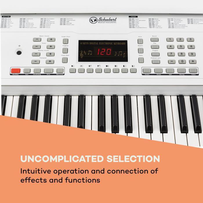 Etude 61 MK II Tastiera 61 tasti ogni 300 Suoni/Ritmi bianco