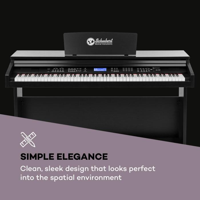 Subi88 MKII kosketinsoitin 88 kosketinta MIDI USB 360 ääntä 160 rytmiä musta