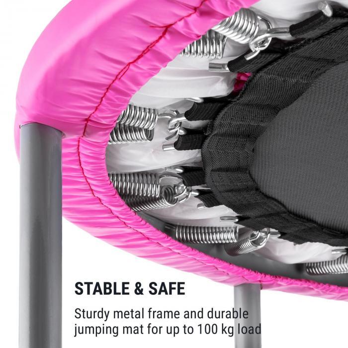 Rocketbaby Trampoline Ø96cm Polypropylene Up to 100kg Powder Coated Pink