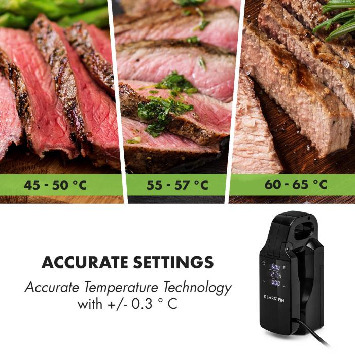 Quickstick Free Circolatore per cottura sous vide, 0-95 °C, display LCD touch, nero