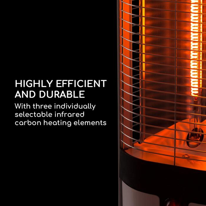 Megalith Radiant Heater 2700W Carbon Heating Elements LED Light White
