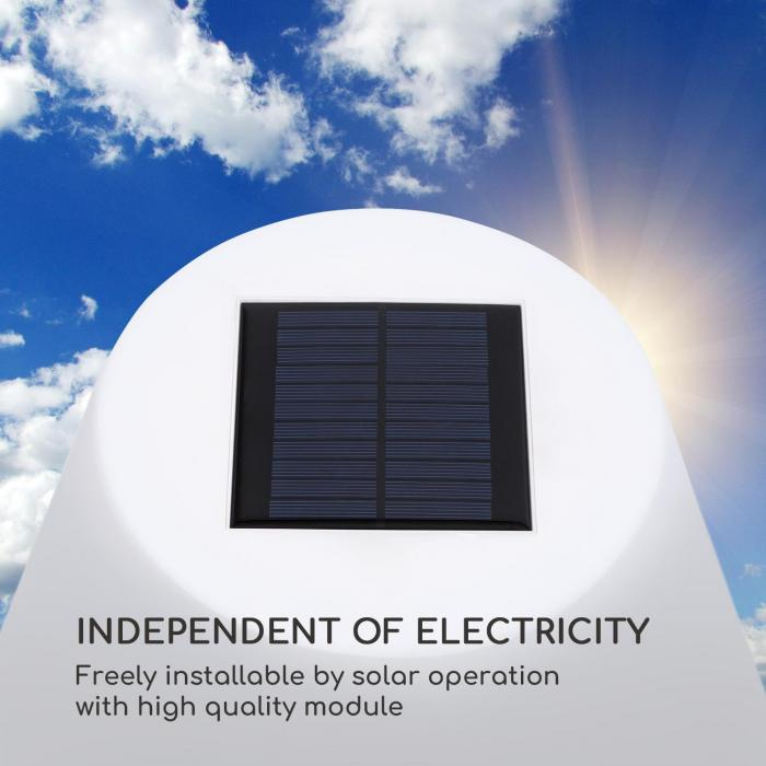 Moody Solar TT Lampada ad Energia Solare IP65 PE Paralume in PE