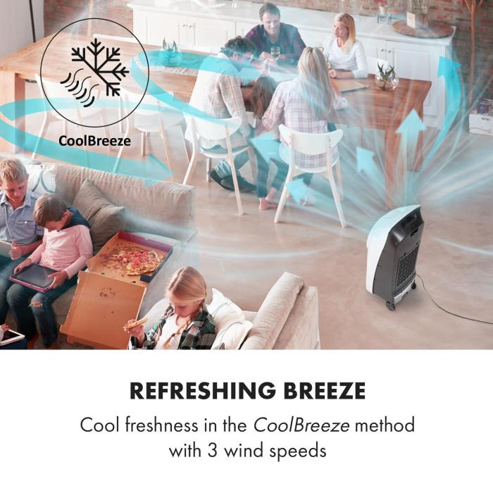 Rotator Luftkühler 110W 8h-Timer Fernbedienung weiß