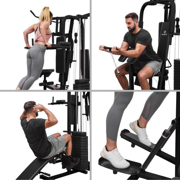 Ultimate Gym 9000 7 Stations bis 150kg QR Stahl schwarz