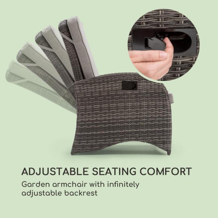 Comfort Siesta Luxury Poltrona Schienale Regolabile grigio scuro
