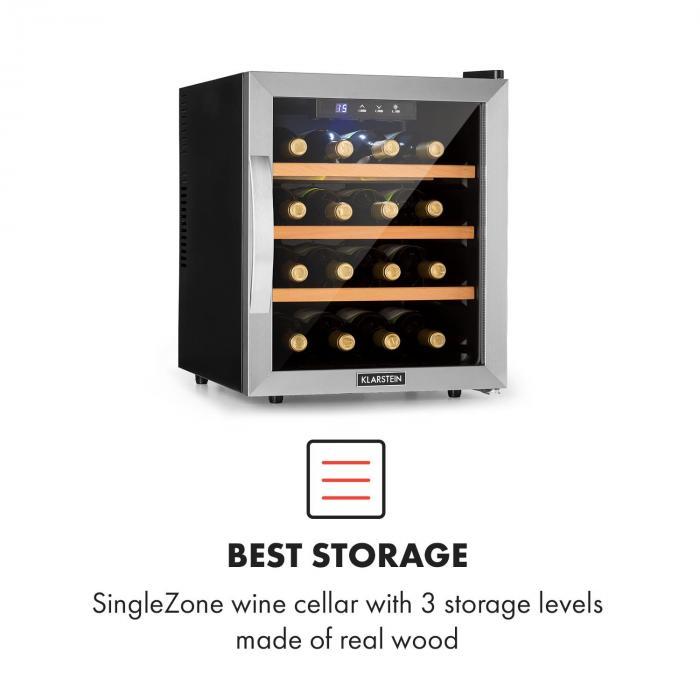 Reserva 16 Frigorifero per Vini 16 Bottiglie/48l Touch Display LED nero