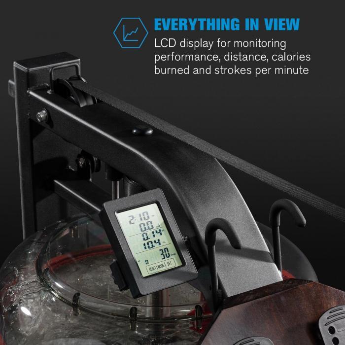 Stoksman 2.0 vogatore ad acqua display LCD faggio scuro