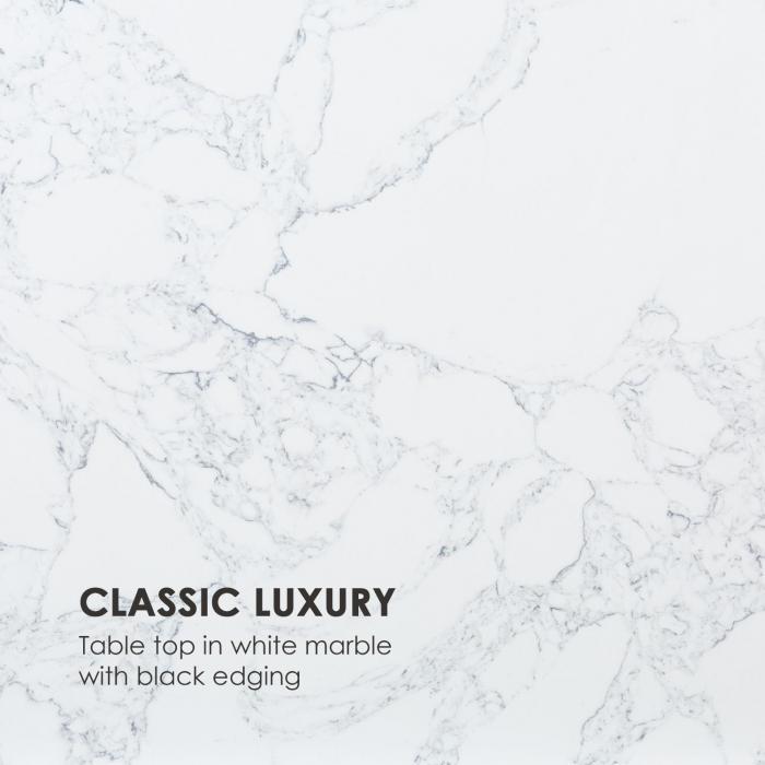 White Pearl II Coffee Table 81.5x35x81.5cm (WxHxD) Marble Gold / White
