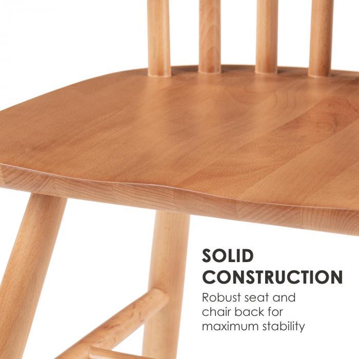 Fynn Coppia di Sedie in Legno di Faggio Design Windsor legno