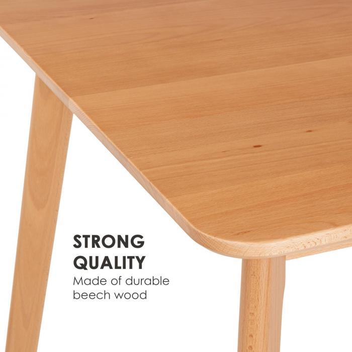 Svenson Dining Table Beech Wood 150 x 75 x 80 cm Wood