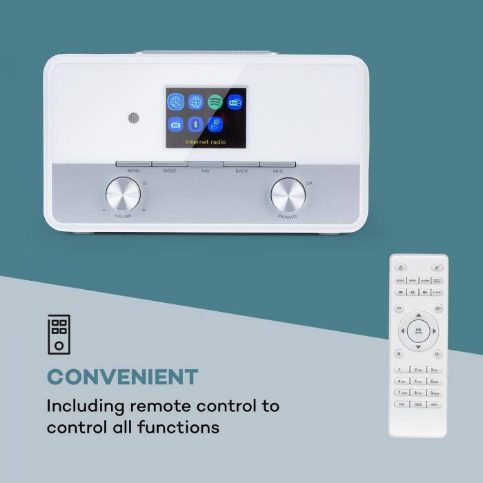 "Connect 150 SE Rádio Internet 2.1 DAB/DAB+/AM-FM BT 2,8"" Ecrã TFT Branco"