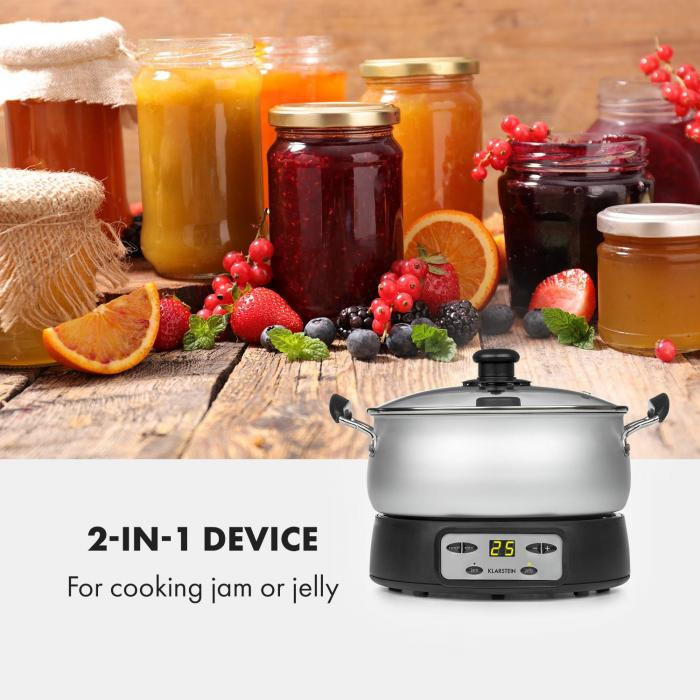 Jam Session Jam and Jelly Cooker 1000W 2 Automatic Programs
