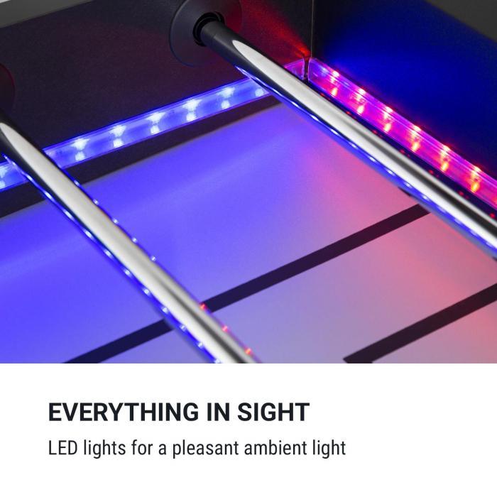 Arrowhead Tavolo da Calcetto 117 x 68 Luci LED Segnapunti autom. nero