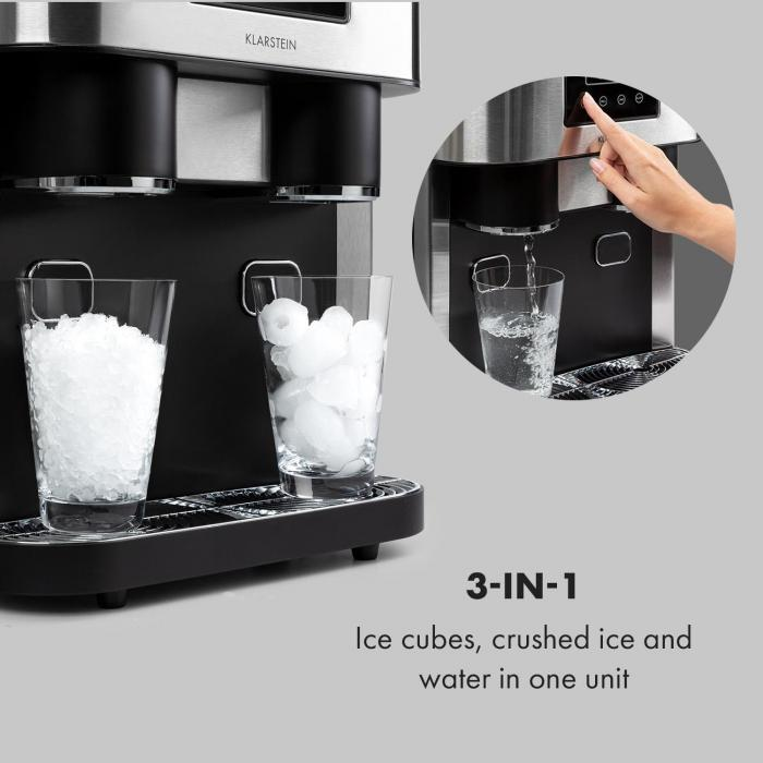Eiszeit Crush -jääpalakone 2 kokoa jäämurska hopea