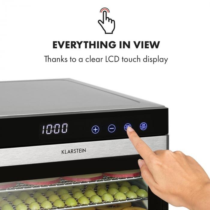 Flavour Dry Dörrautomat 35-75°C LCD-Touch-Display Timer schwarz