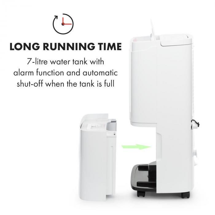 DryFy Connect 50 ilmankuivain wifi kompressori 50 l/päivä 45-55 m² valkoinen