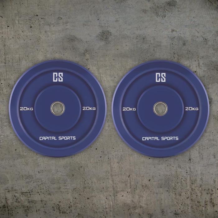 Nipton Coppia Dischi Per Sollevamento Pesi 20kg Blu