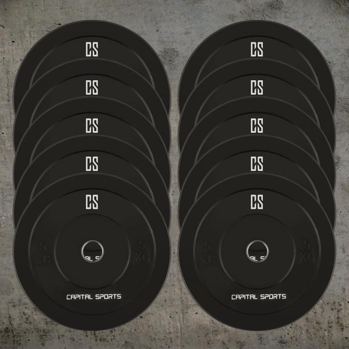 Resilior Dischi Per Sollevamento Pesi 5 coppie da 5kg