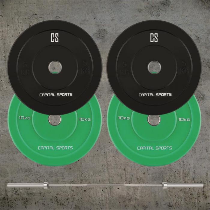 Nipton Mens Set I olympiatason tanko levypainot 2 paria 5 & 10 kg