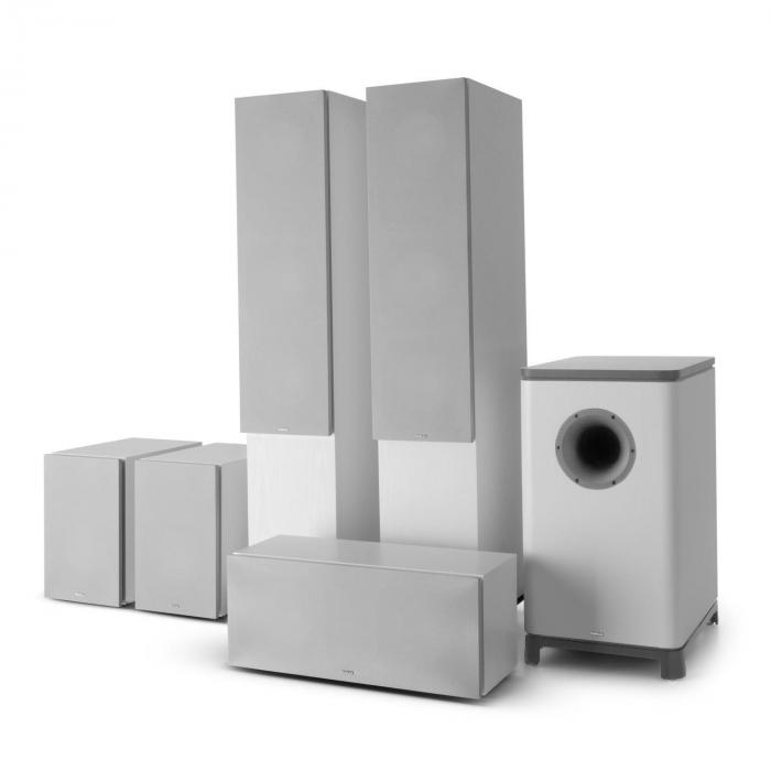 Reference 851 5.1-Soundsystem Bianco incl. cover argento
