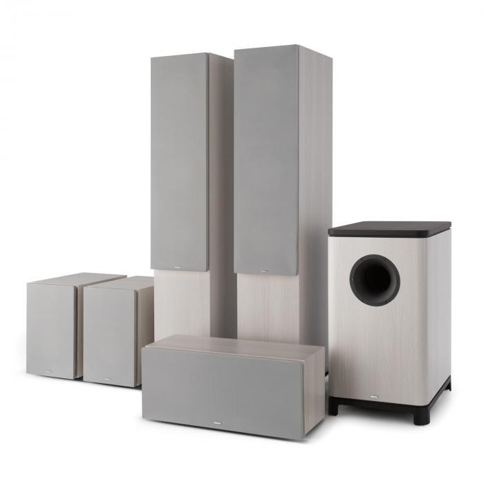 Reference 851 5.1 äänijärjestelmä harmaa tammi sis. suojuksen hopea