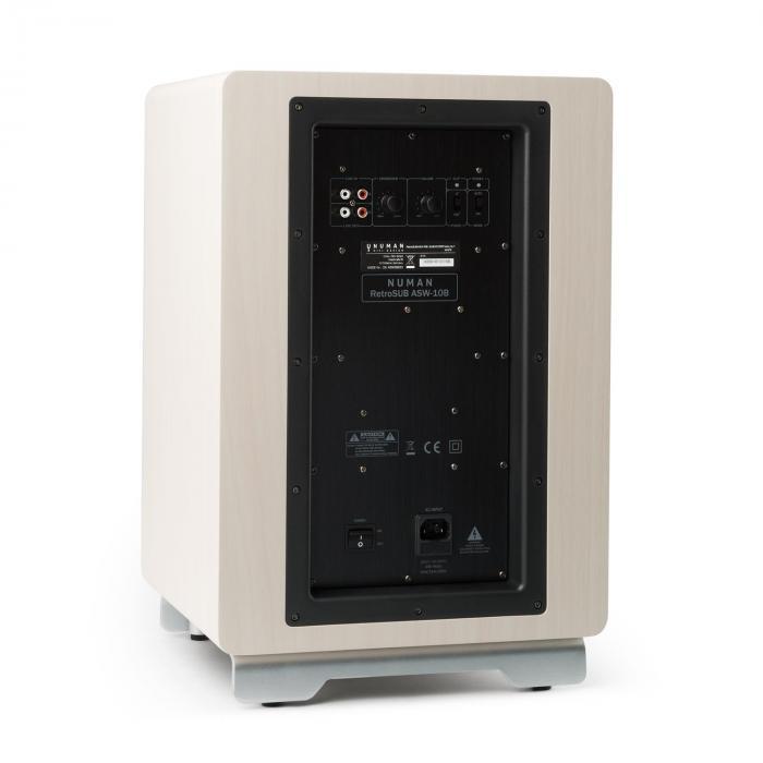 "RetroSub aktiivisubwoofer 25,4 cm (10"") valkoinen sis. suojus ruskea"