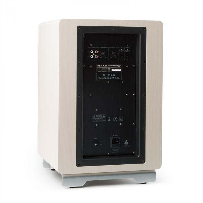 "RetroSub aktiivisubwoofer 25,4 cm (10"") valkoinen sis. suojus musta-ruskea"