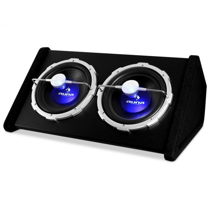 "2X12"" Double Subwoofer with LED Light Effect 2000 watts"
