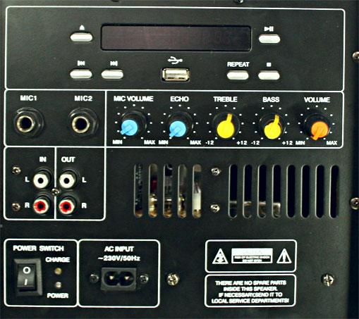 Port 8 Mini Mobile aktive PA-Anlage CD MP3 Player