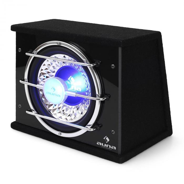 "10"" In-Car Hifi Subwoofer Bassbox 600 Watts with LED lights"