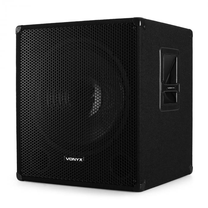 "15"" 38cm Active PA Subwoofer 600W Bass Speaker"