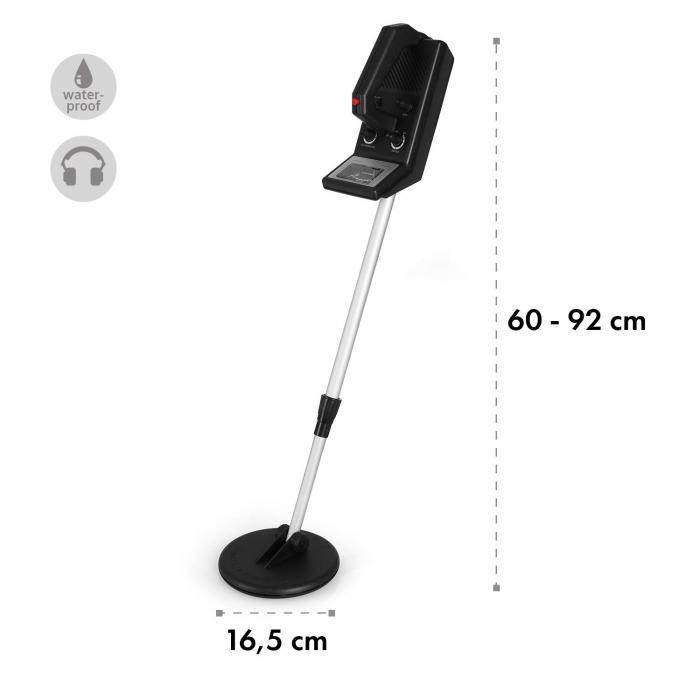 Basic Two Goldsucherset | Metalldetektor + Siebschaufel | 16,5 cm Spule  | 1,5 m Tiefe