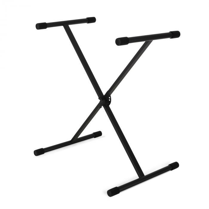 Keybordstativ pianostativ golvstativ svart justerbar höjd