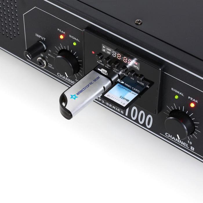 SPL-1000 Amplificatore hifi PA USB SD 2800W